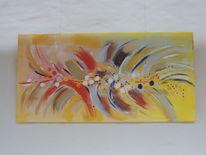 Abstrakte kunst, Abstrakte malerei, Gold, Acrylmalerei