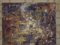 Abstrakt, Acrylmalerei, Träumerei, Kraftvoll