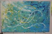 Acrylmalerei, Freundlich, Moderne kunst, Pinsel und spritztechnik