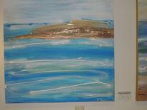 Acrylmalerei, Abstrakt, Weiß, Braun