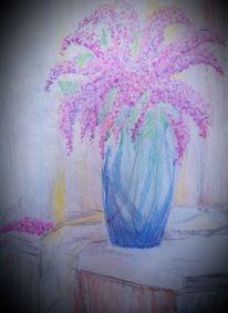 Flieder, Tisch, Ruhe, Vase