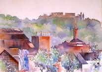 Oberfranken, Bayer, Coburg, Aquarellmalerei