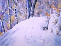 Aquarell, Schnee