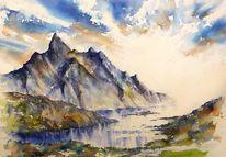 Berge, Traumlandschaft, Gletscher, Norwegen