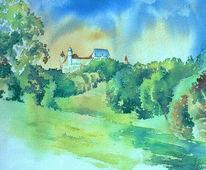 Oberfranken, Aquarellmalerei, Veste coburg, Veste