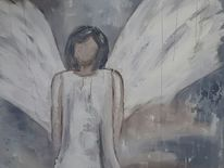 Weiß, Engel, Blau, Abstrakt