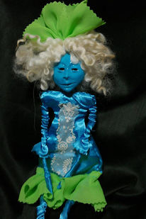 Blaue haut, Alien, Türkis, Art doll