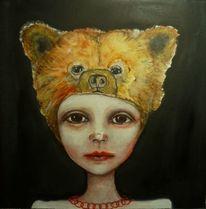 Kind, Traum, Bär, Malerei