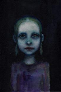 Blau, Mädchen, Portrait, Kindheit