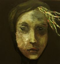 Erinnerung, Portrait, Schwarz, Nacht