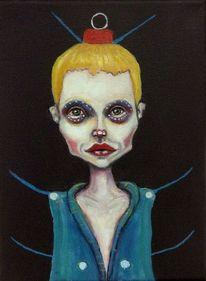 Portrait, Kind, Figur, Minimalistisch