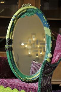 Farben, Grün, Spiegel, Dekoration