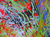 Pastellmalerei, Hell, Bunt, Formen