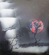 Fantasie, Universum, Sprühen, Malerei