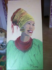 Malerei, Menschen, Frau, Tuch