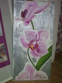 Malerei, Orchidee, Rosa