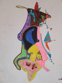 Vogel, Scheuchen, Geist, Portrait