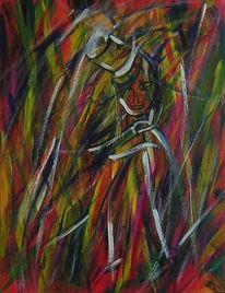 Dispersion, Abstrakt, Fantastische malerei, Mischtechnik