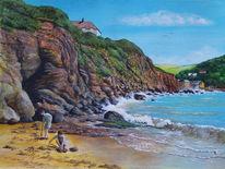 Gemälde, Küstenlandschaft, Realismus, Kunstsammler