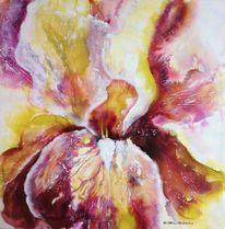 Orchidee, Blüte, Blumen, Malerei