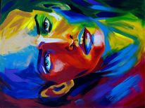 Acrylportrait, Candyart, Malerei