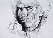 Portrait keith richards, Zeichnung, Keith richards, Skizze keith richards