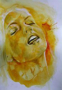 Mischtechnik, Bleistiftzeichnung, Zeichnung, Portrait