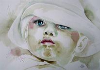Portrait, Niedliches kind, Kinderportrait, Malerei