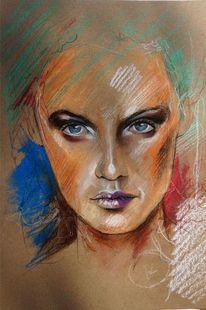 Pastellmalerei, Zeichnungen