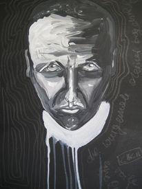 Untergang, Pfarrer, Acrylmalerei, Ärger
