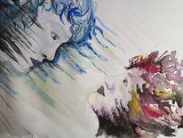 Aquarell, Wasserfarben