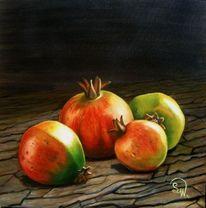 Vitamin, Granatäpfel, Ölmalerei, Früchte