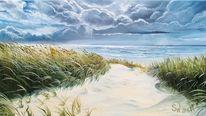 Schilf, Wasser, Strand, Landschaft
