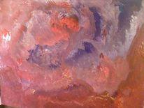 Acrylmalerei, Berge in flammen, Malerei, Abstrakt