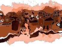 Braun, Farben, Digital modern, Schwarz