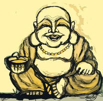 Digitale kunst, Buddha, Digital