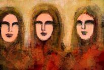 Atmosphäre, Abstrakte kunst, Frau, Digitale kunst