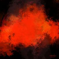 Inferno, Brennen, Feuerwald, Digitale kunst
