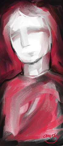 Rot, Portrait, Digitale kunst, Digital