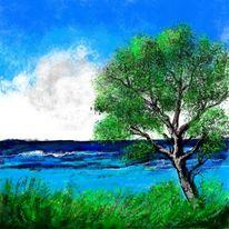 Farben, Natur, Meer, Landschaft