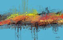 Digital, Abstrakt, Modern, Digitale kunst