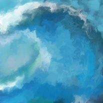 Digitale kunst, Natur, Atmosphäre, Meer