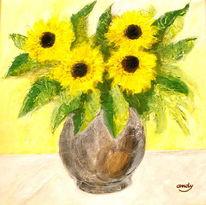 Malerei, Blumen, Sonnenblumen