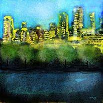 Blau, Abstrakte kunst, Perfekt, Digitale kunst
