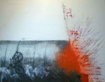 Malerei mischtechnik, Außenseiter, Surreal, Malerei