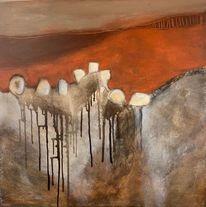 Stein, Schottland, Abstrakt, Malerei