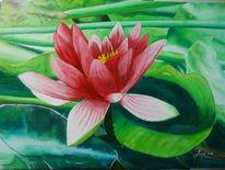 Pflanzen, Malerei, Seerose