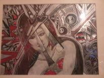 Zeichnung mit edding, Zeichnungen, Abstrakt