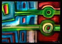 Malerei, Schlängeln, Acrylmalerei,