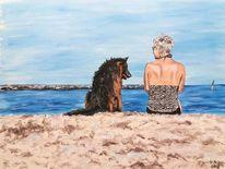 Hund, Freund, Menschen, Frau